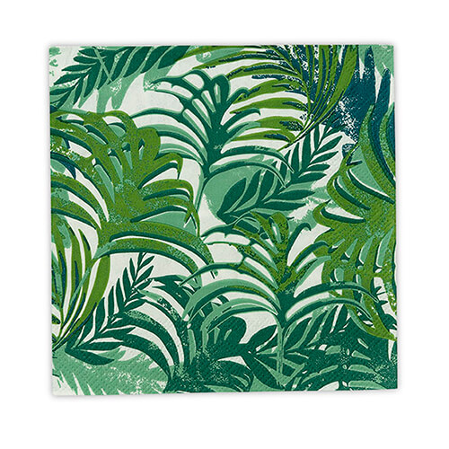 Tropical wedding theme napkin