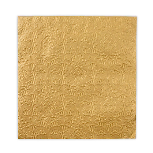Gold wedding paper napkin