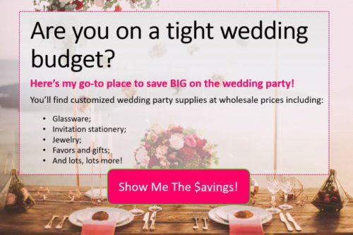 wedding decor on a budget