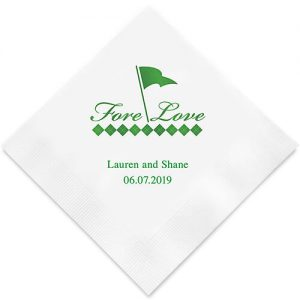 Golf lovers wedding napkin