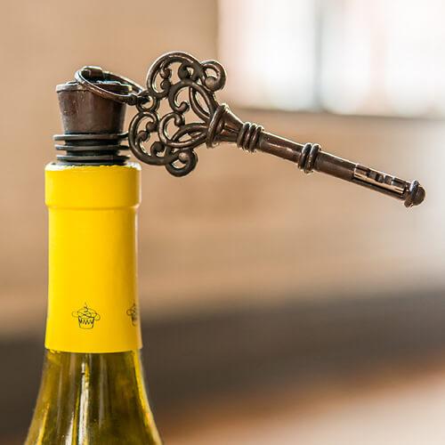Antique key bottle opener favor