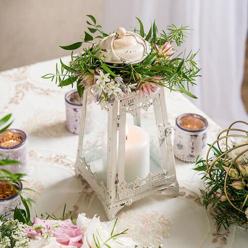 Antique looking wedding lantern