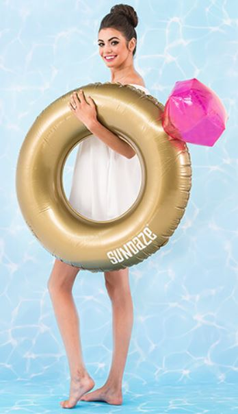 Inflatable wedding diamond ring float