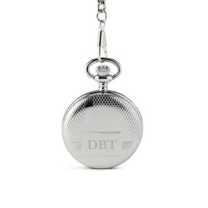 Smooth silvery pocket watch favor