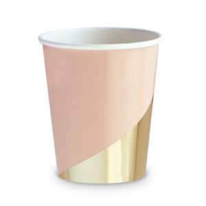Modern wedding theme paper cup