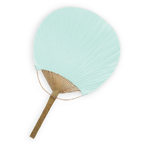 Exotic wedding paddle fan