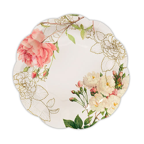 Rustic wedding paper plate