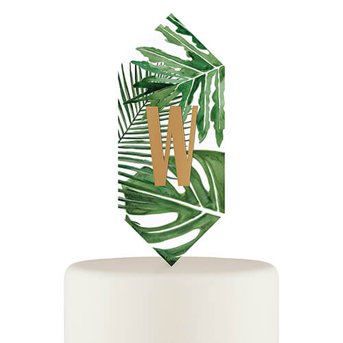 Floating beach wedding cake topper