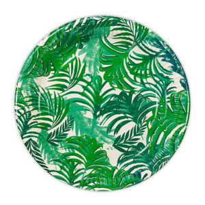 Tropical wedding theme plates