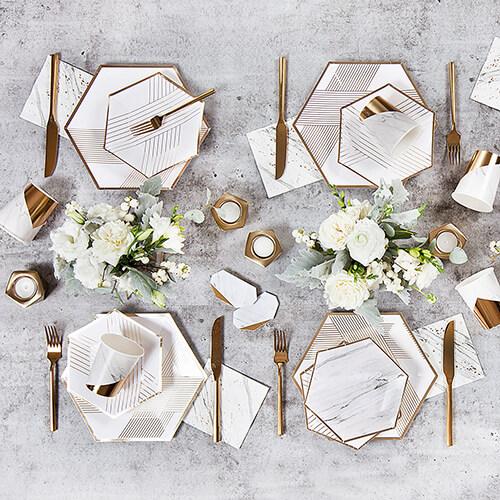Geo wedding paper plates