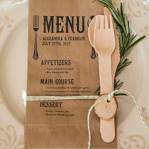 Eco friendly wooden utensil set
