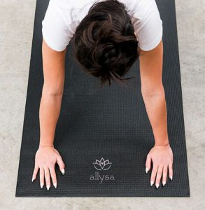 Personalized bridesmaid and groomsmen yoga mat