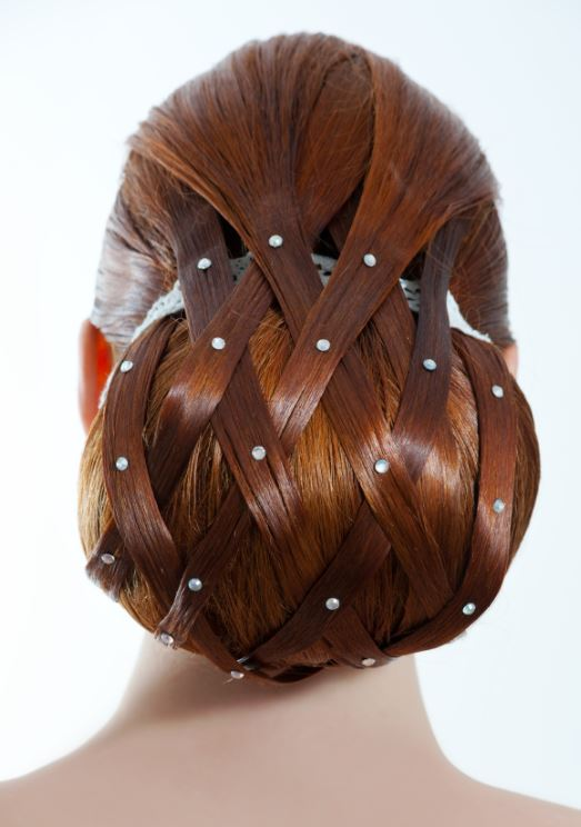 Wedding hairstyle with beads