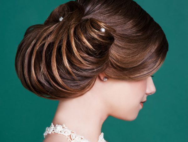 Wedding croissant bun hairstyle