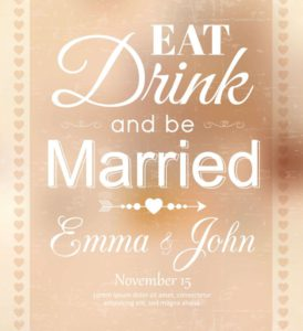 Wedding wine labels