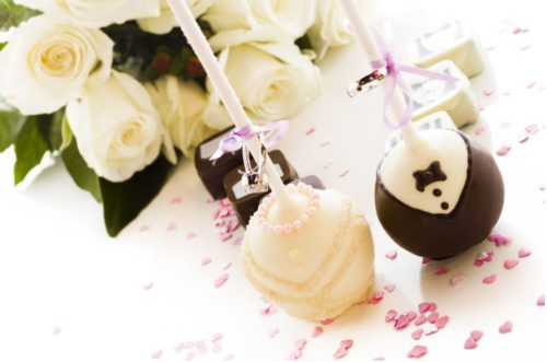 Wedding cupcake and pops decoration