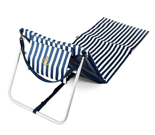 Folding sun lounger with frame