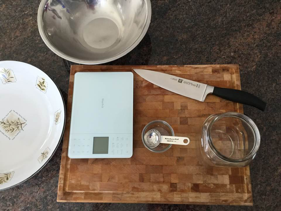 Tools needed to make your sauerkraut